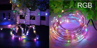 Gotas de Luz LED 5M 50LED 12V RGB