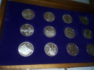 Coleccion monedas de plata Real madrid