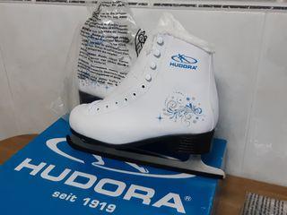 Patines de patinaje sobre hielo 'Hudora' nuevos