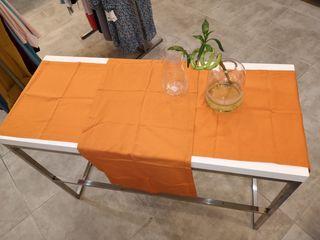 2 caminos de mesa, lonja de gato, 120x44cm