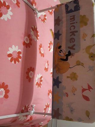 Barra protectora cama niños