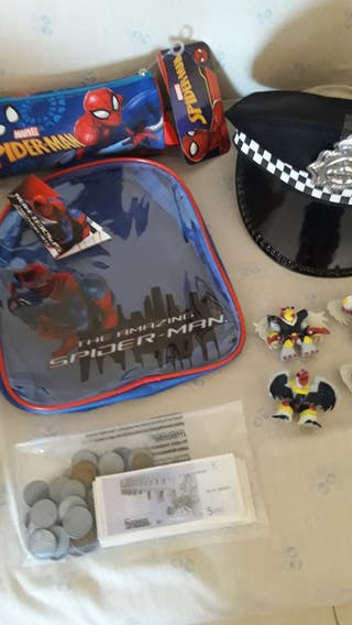 estuche/bolsa Spiderman + REGALO