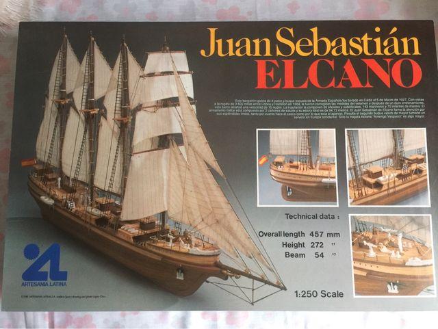 Maqueta Madera Barco Juan Sebastian Elcano De Segunda Mano Por 50