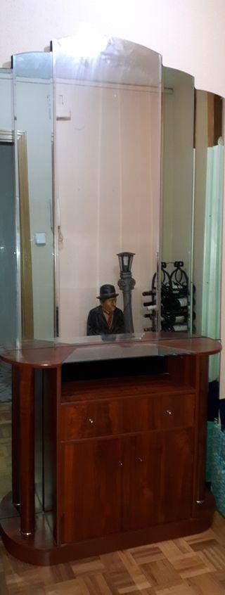 Mueble Recibidor- entrada con espejo