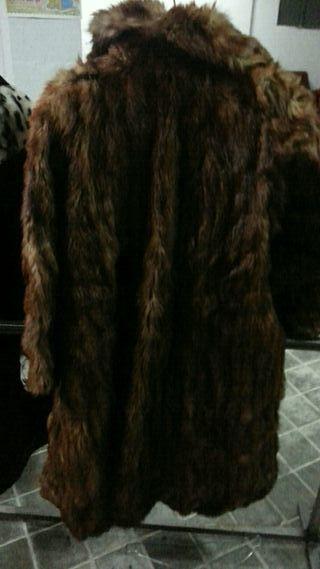abrigo de piel de visont