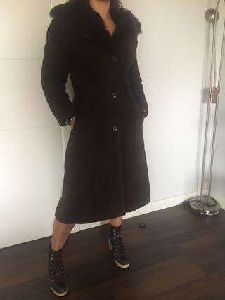 Abrigo de piel vuelta alta calidad!!!