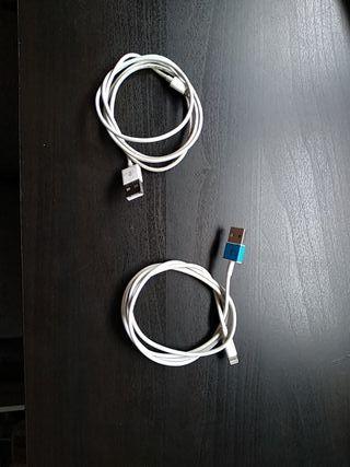2 Cables cargador iPhone