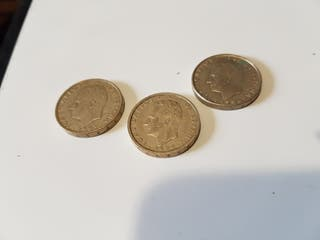 Lote 3 monedas 100 pesetas. Años 83, 84 Y 86.