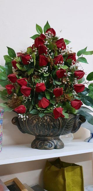 ramo artificial de rosas
