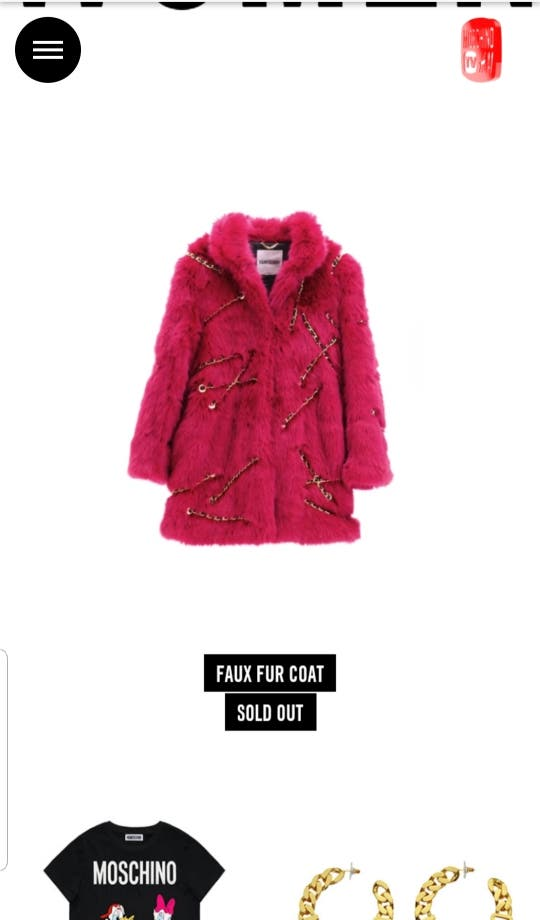 H&M X MOSCHINO Faux Fur Coat LIMITED EDITION