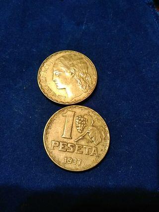 1 peseta República española