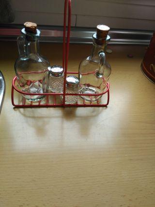 conjunto de vinagrera y aceitera
