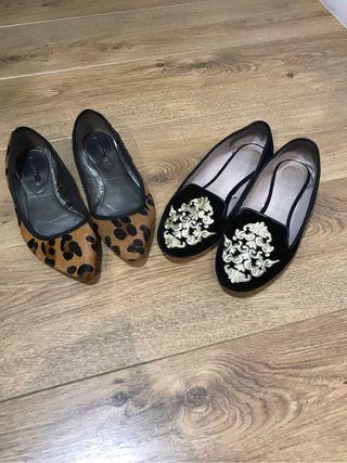Zapatos zara (los dos pares 15€)