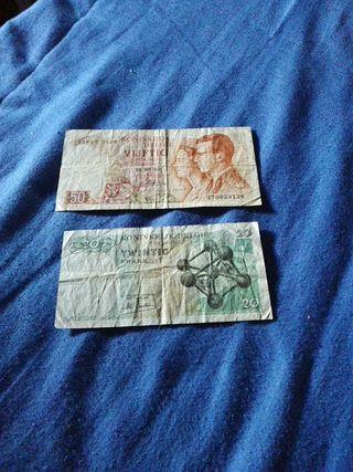 billetes belgas