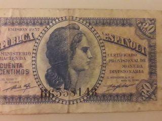Billete 50 céntimos República Española 1937