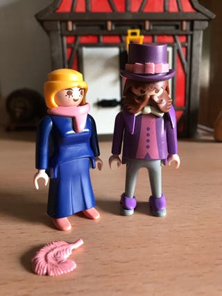 Playmobil lord y dama victorianos ingleses