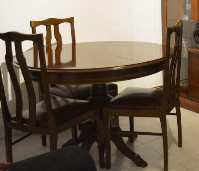 Conjunto mesa y sillas comedor de segunda mano por 80 € en Santa ...