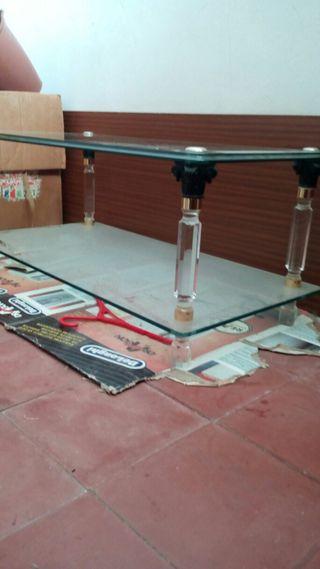 Mesa de cristal de centro de salón