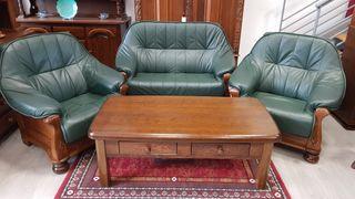 Sofas de Piel Verdes Rusticos