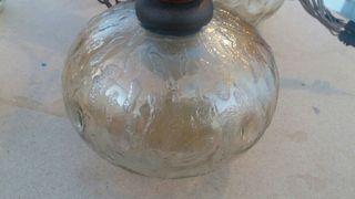 Lámpara vintage grande de madera
