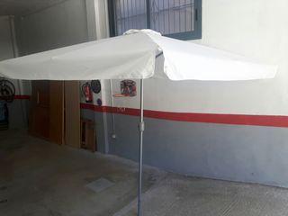 parasol de jardín estructura de aluminio con maniv