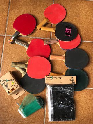 Raquetas +Red +Bolas