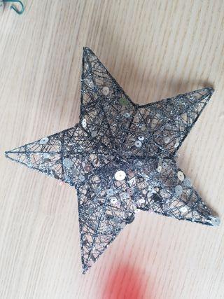 Estrella plateada Arbol de navidad