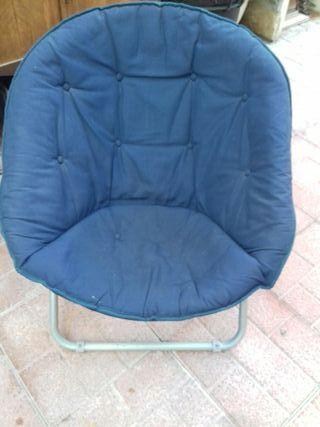 sillón envolvente azul
