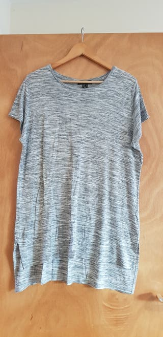 Grey tunic length top size 20