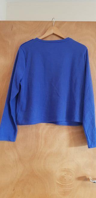 Blue crop jumper size 18/20