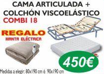 CAMAS ARTICULADAS CON COLCHON VISCOELASTICO
