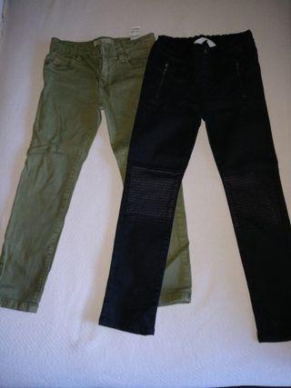 Pantalones niña 5-6 años, H&M y Lefties