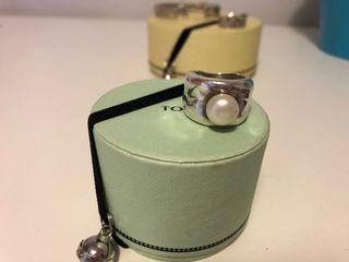 Anillo plata y perla Tous
