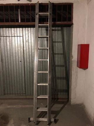 Escalera telescópica 3m cerrada y 8m abierta