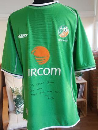 Camiseta futbol selección Irlanda Mundial 2002