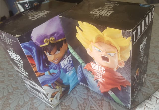 Figuras BWFC Scultures pack Goku rey & trunks fut.