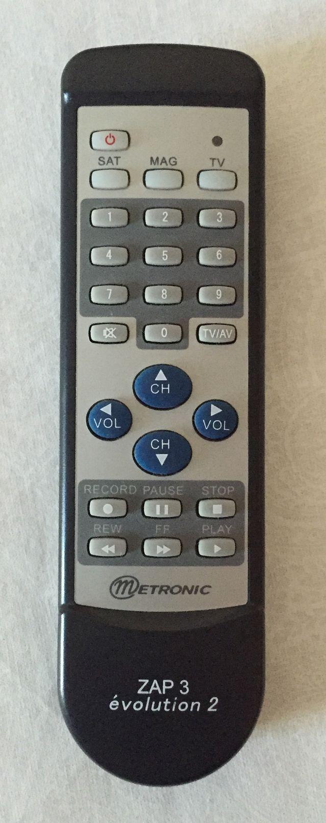 télécommande universelle 3 en 1 ZAP 3 evolution 2