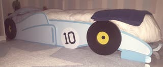 cama infantil 90 cm forma de coche