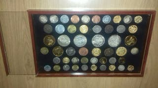 Monedas colección plata y oro