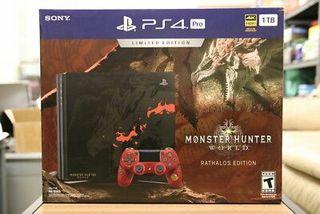 new Sony playstation 4 Pro monster hunter