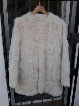 Abrigo 100% Conejo blanco