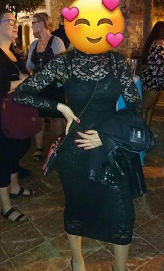 Vestido encaje zara negro