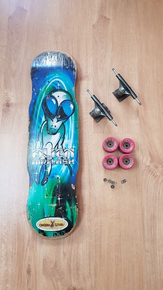 Skate. Tabla, ejes y ruedas