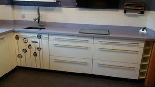 Muebles cocina con encimera silestone