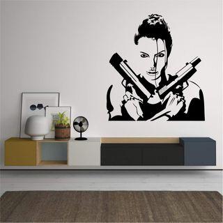 vinilo decorativo Lara Croft