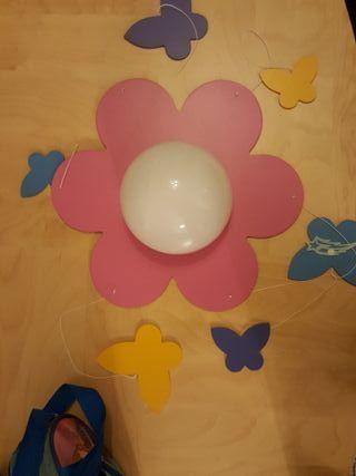 lampara techo flor