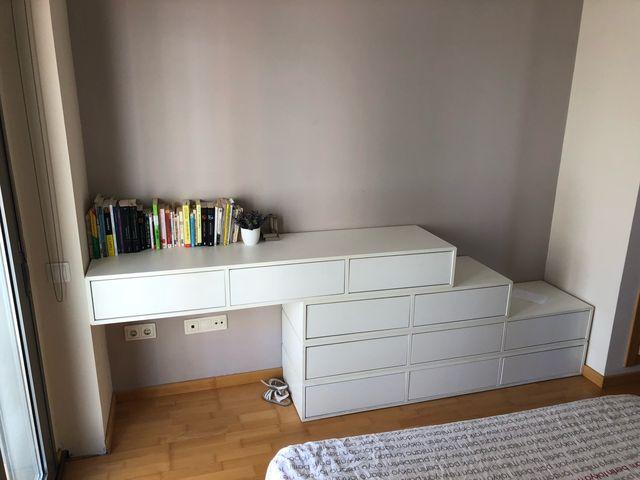 Mueble habitación cajoneras lacadas de Kibuc de segunda mano por 490 ...