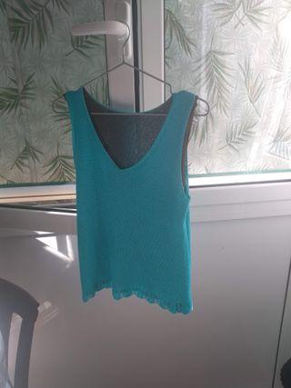 Jersey tirantes azul - Talla L