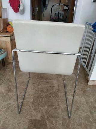 silla metal y piel 6 sillas 85 cada una