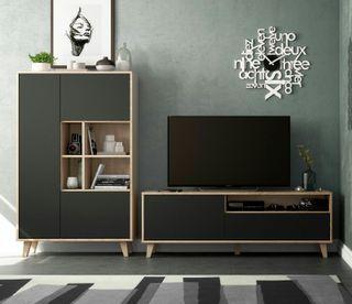 Pack dos muebles de salón nordico retro moderno
